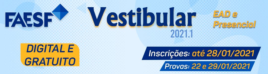 Vestibular 2021.1 – EAD e Presencial!