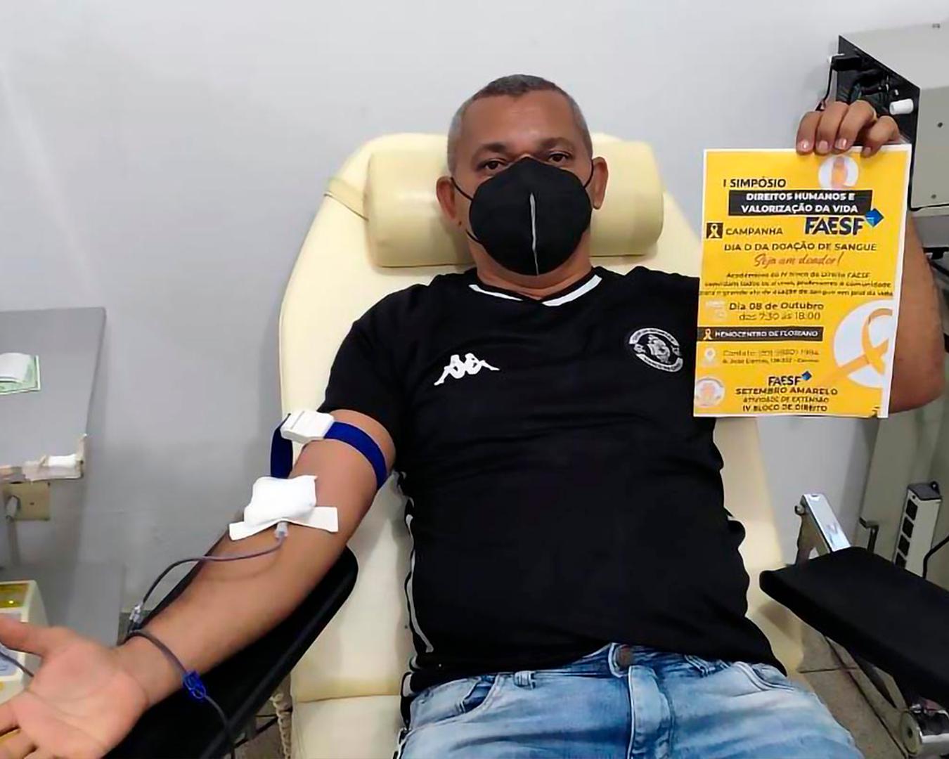 Dia D da campanha de doação de sangue em prol da vida